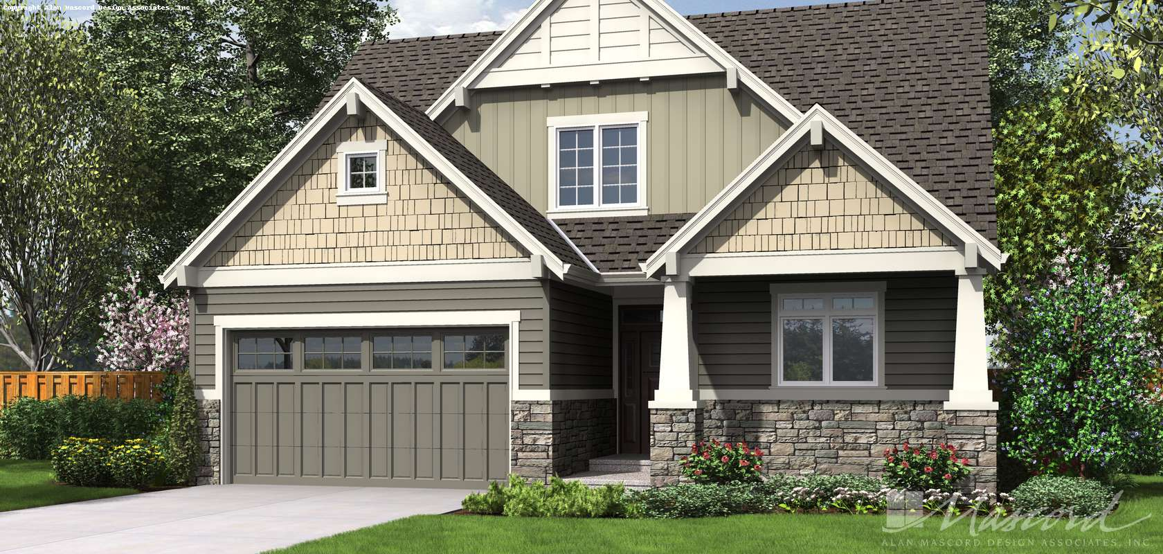 Mascord House Plan 2185AA: The Florence