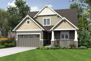 Front Rendering of Mascord House Plan 2185AA - The Florence