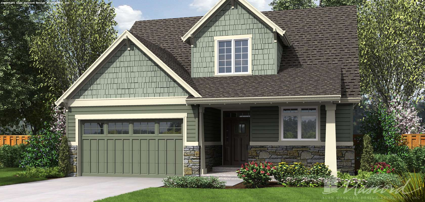 Mascord House Plan 2185AB: The Scappoose