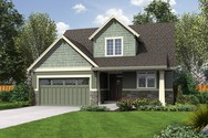 Front Rendering of Mascord House Plan 2185AB - The Scappoose