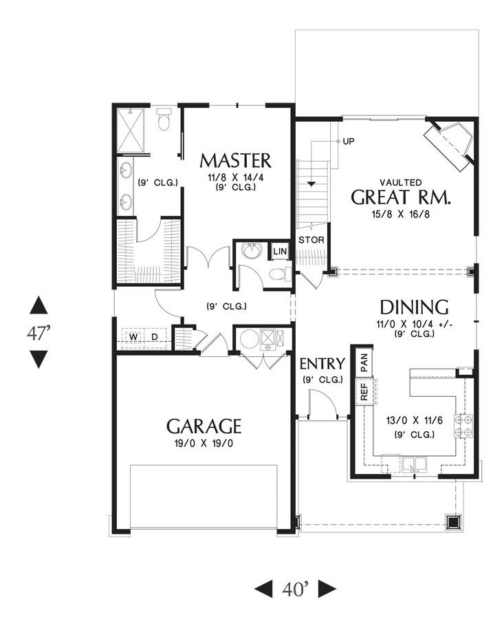 Mascord Floor Plans Part - 19: Image For Scappoose-Charming Cottage With Master On Main Floor-Main Floor  Plan