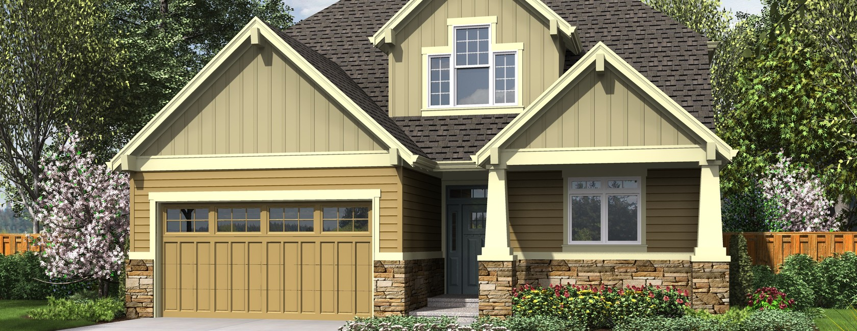 The Nehalem Small House Plans with Craftsman Style Charm