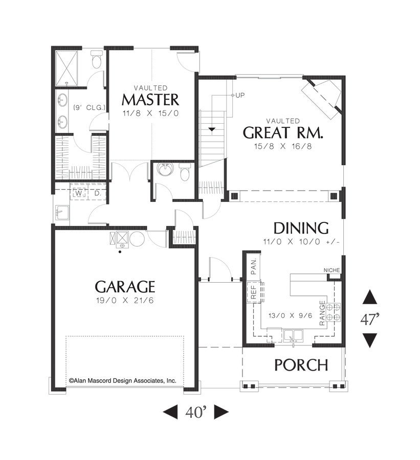Mascord House Plan 2185a The Chandler