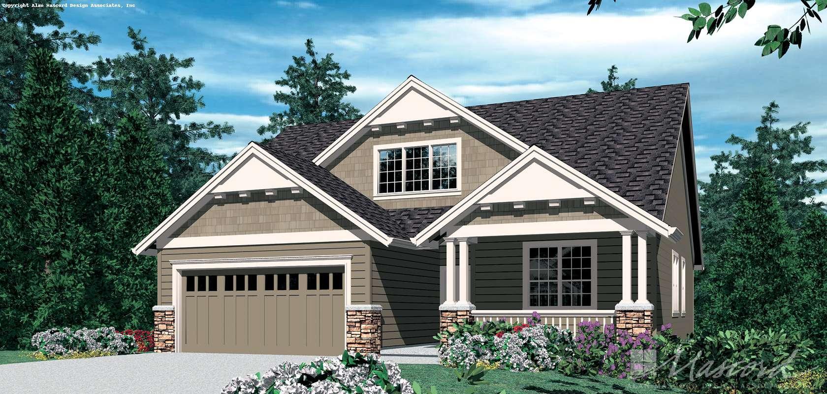 Mascord House Plan 2185A: The Chandler