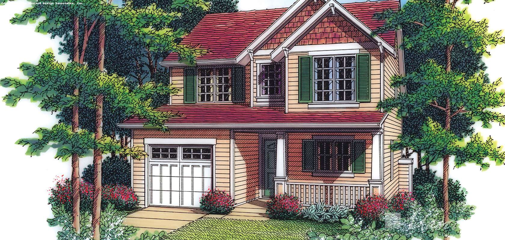 Mascord House Plan 2192: The Meredith