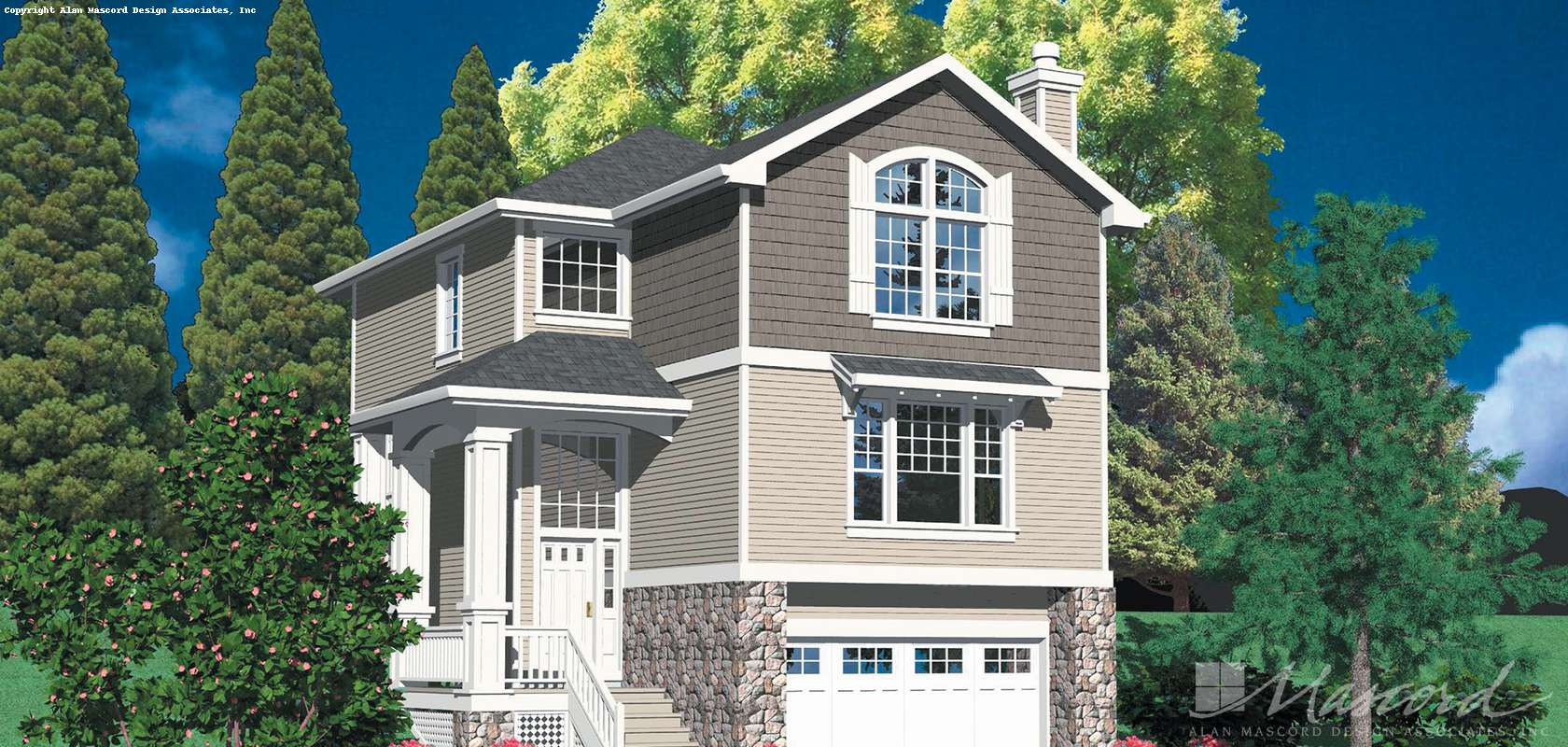 Mascord House Plan 2195A: The Whittgold