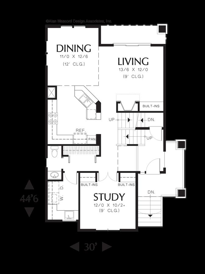 Mascord House Plan 2196a The Benson