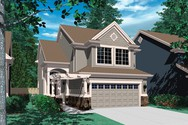 Front Rendering of Mascord House Plan 2198 - The Moraine