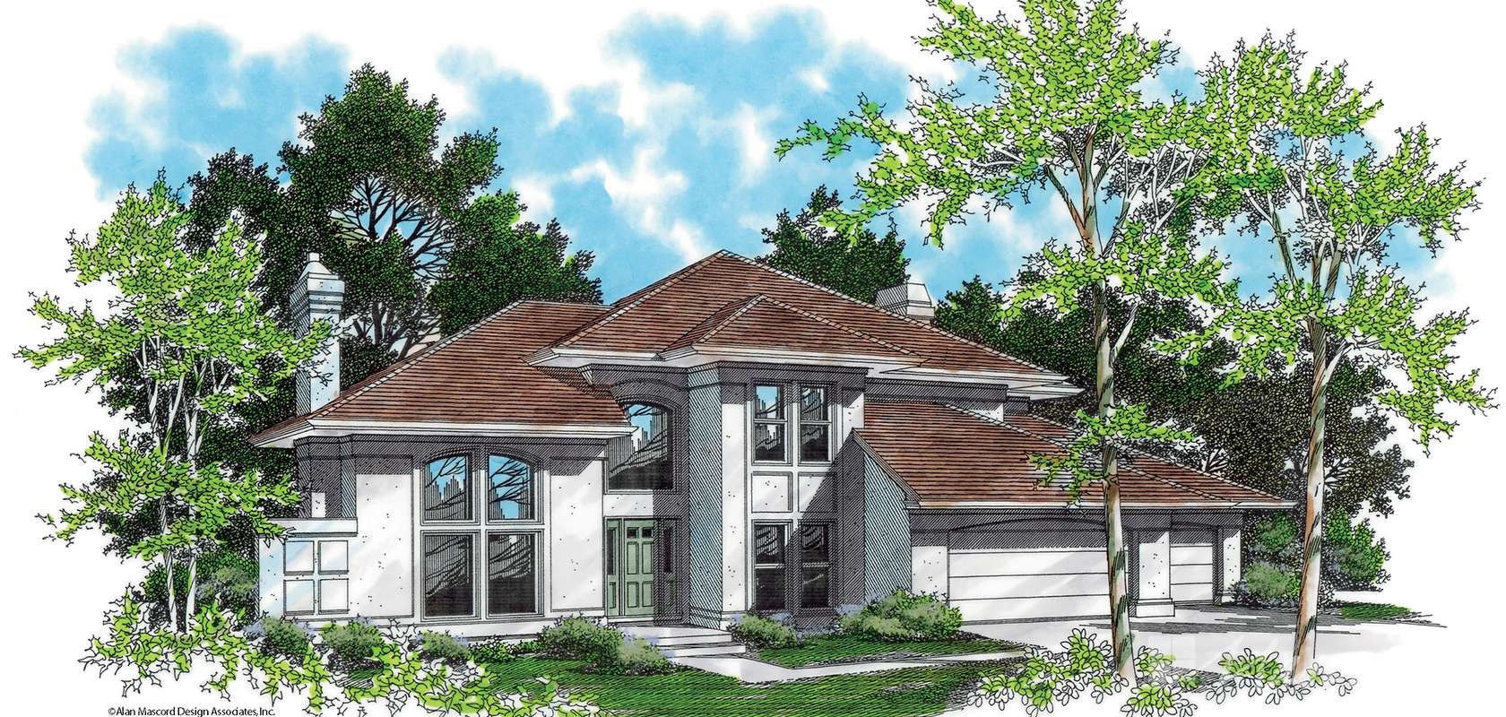 Mascord House Plan B2206-Truss Roof: The Silverston
