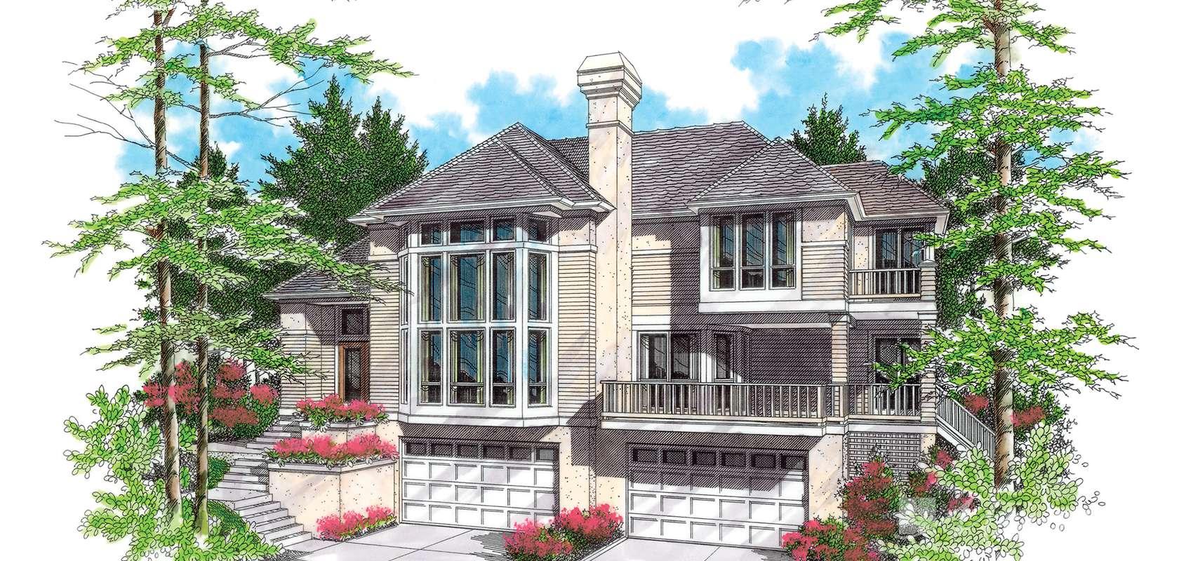 Mascord House Plan 22105: The Ridgecrest