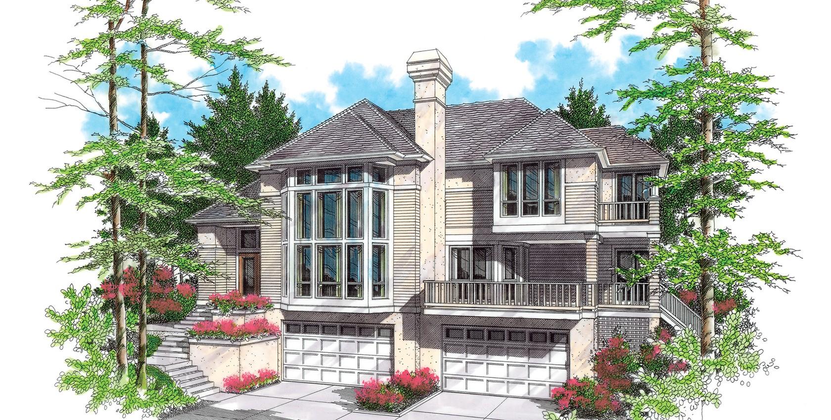 Mascord house plan 22105 the ridgecrest for House plans mascord