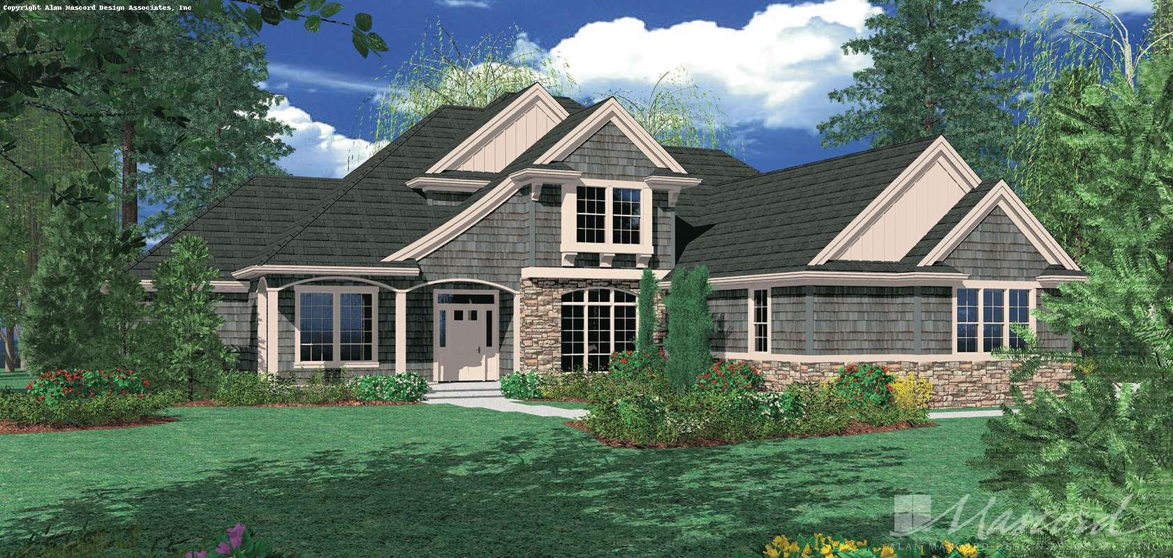 Mascord House Plan 22108: The Sumner