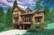 Front Rendering of Mascord House Plan 22109A - The Jenkins