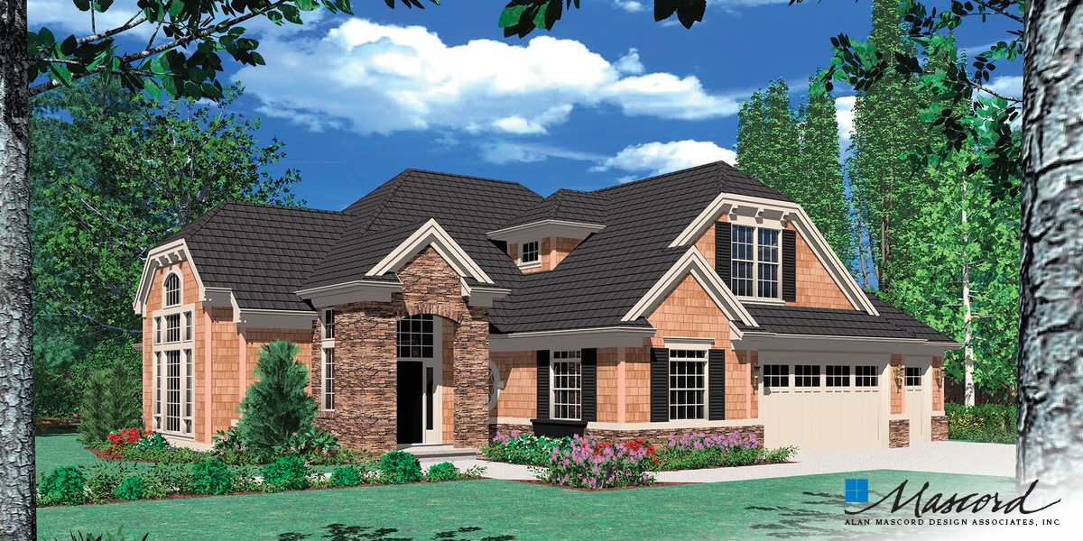 Image for Sidell-European Cottage with Games Room and Wet Bar-Front Rendering