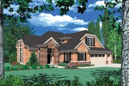 Front Rendering of Mascord House Plan 22110 - The Sidell