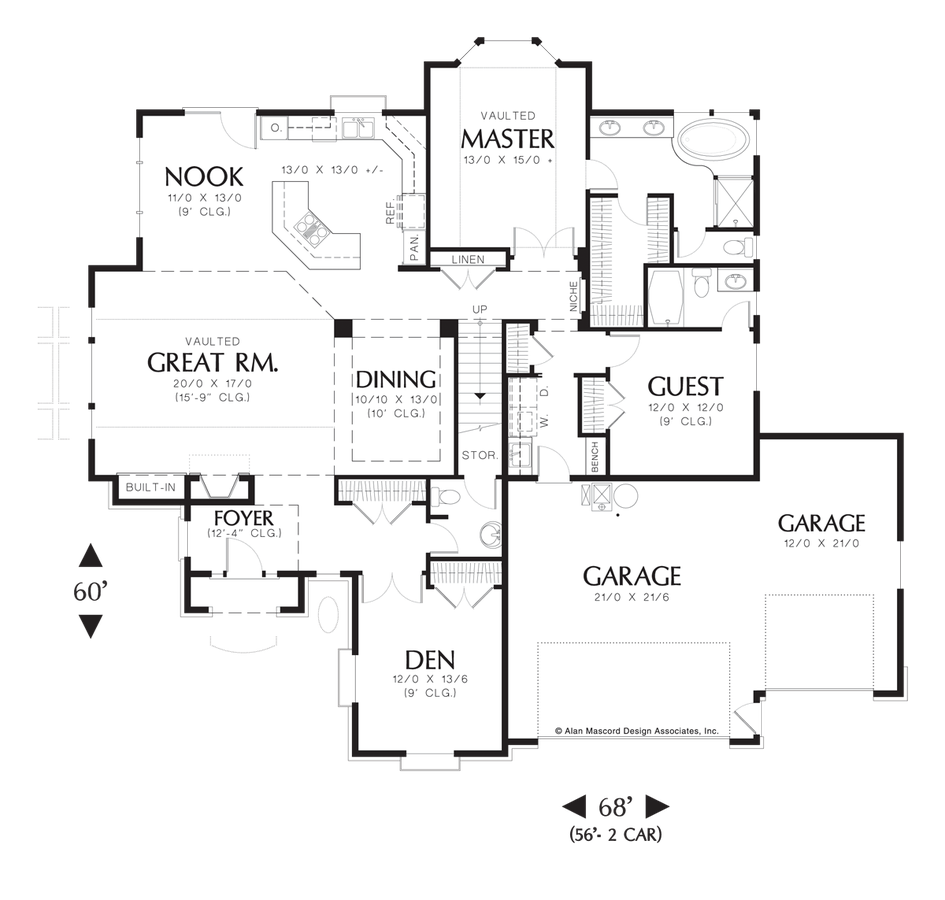 Image for Sidell-European Cottage with Games Room and Wet Bar-Main Floor Plan