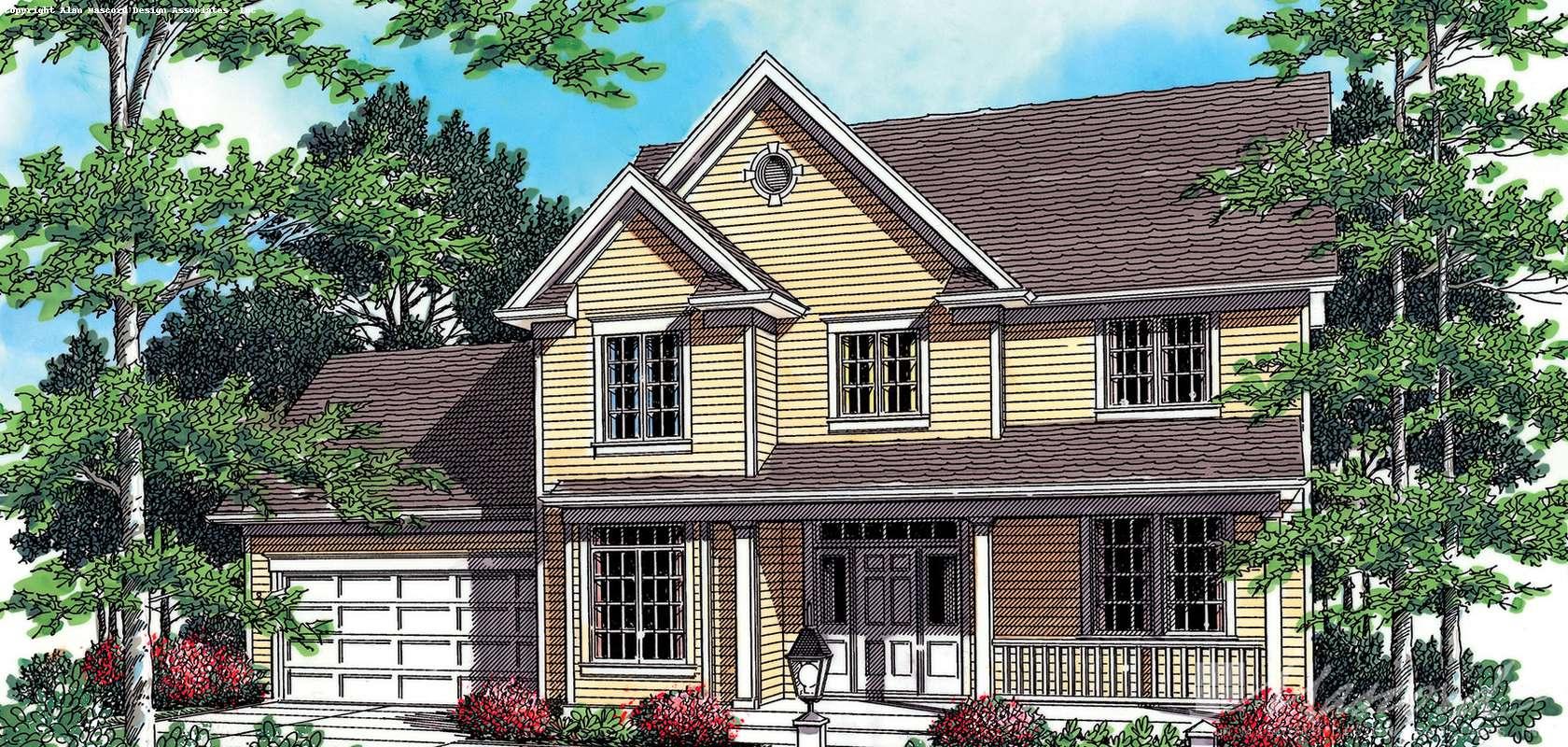 Mascord House Plan 22112: The Alexander