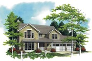 Front Rendering of Mascord House Plan 22113 - The Carlton
