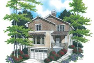 Front Rendering of Mascord House Plan 22115 - The Bradford
