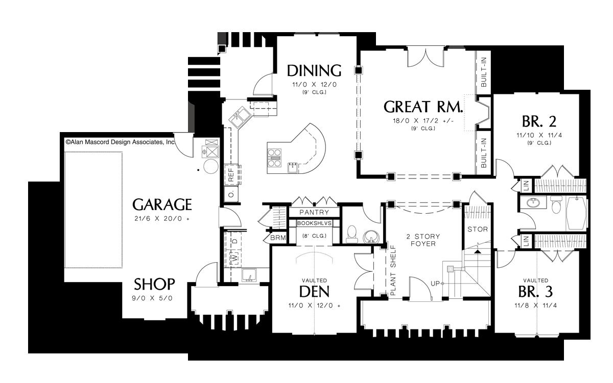 Craftsman House Plan 22116 The Irvington 2517 Sqft 3 Beds 2 1 Baths