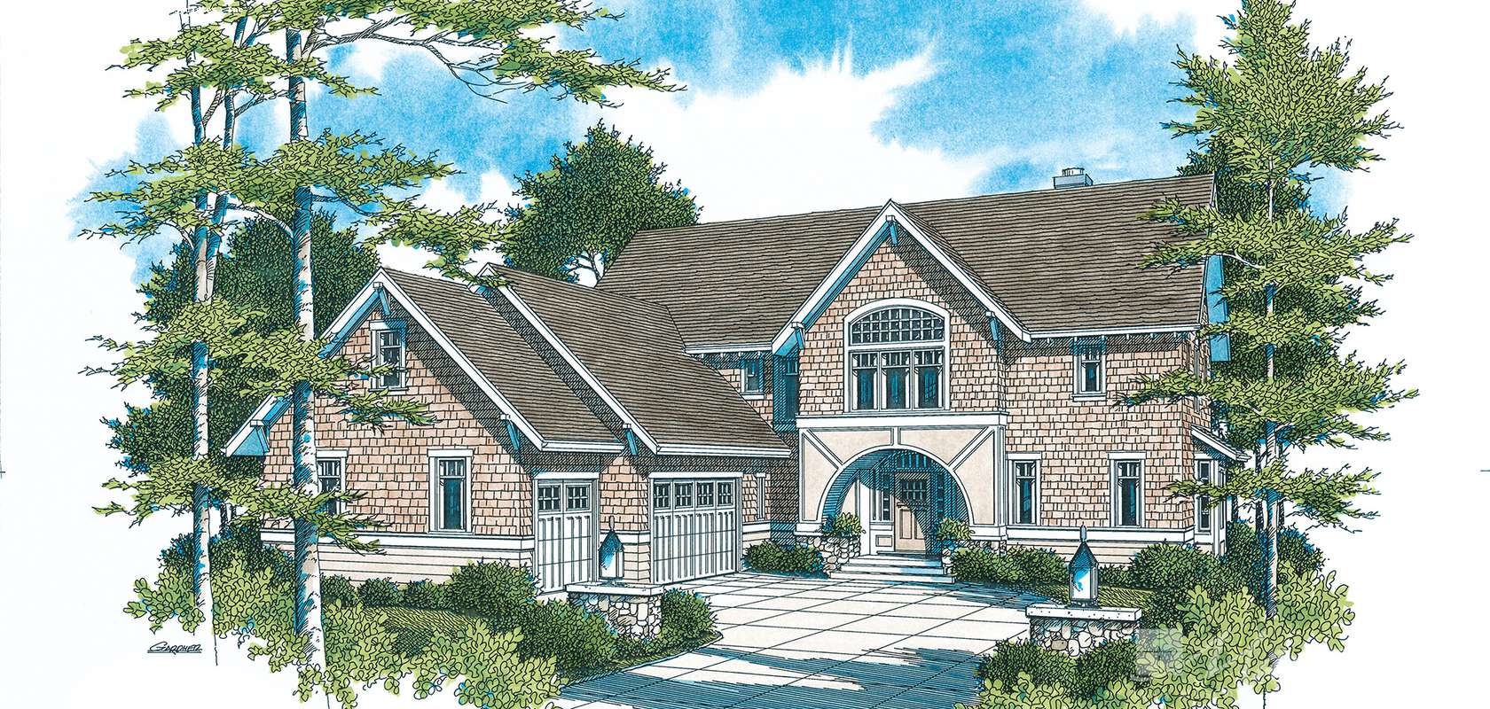 Mascord House Plan 22119: The Downing