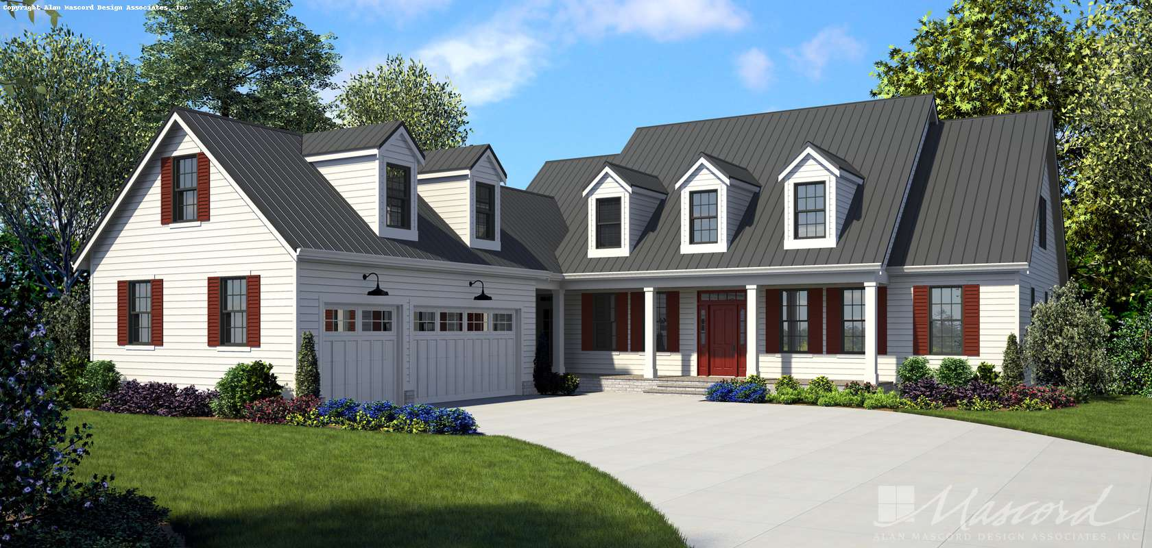 Cape Cod House Plan 22120 The Covington 2923 Sqft 4 Beds 2 1 Baths
