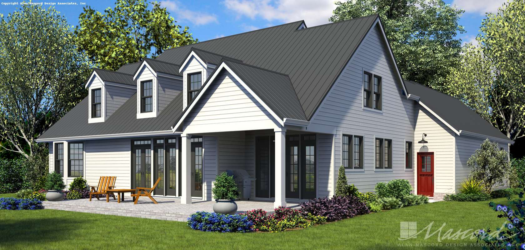 Mascord House Plan 22120: The Covington