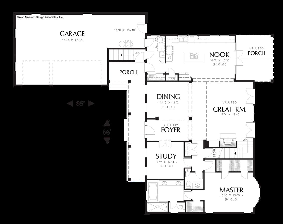 mascord house plan 22120 the covington