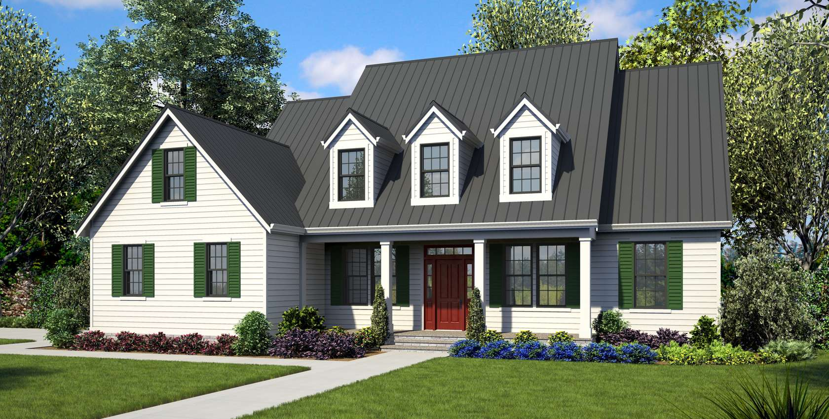 Image for Everly-Country Plan with Side-Loading Garage-3542