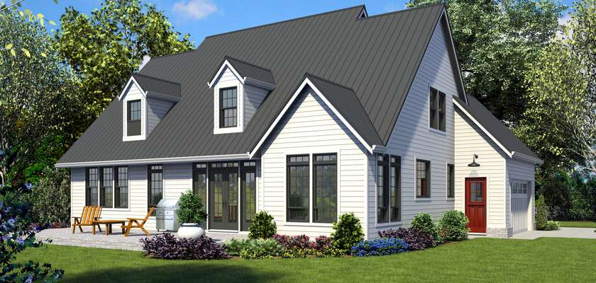 Mascord House Plan 22121: The Everly