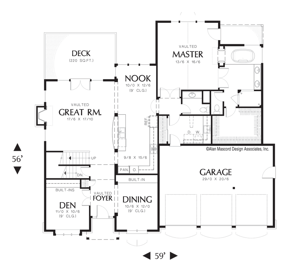 Craftsman house plan 22122d the brackenbury 4069 sqft 5 for House plans co
