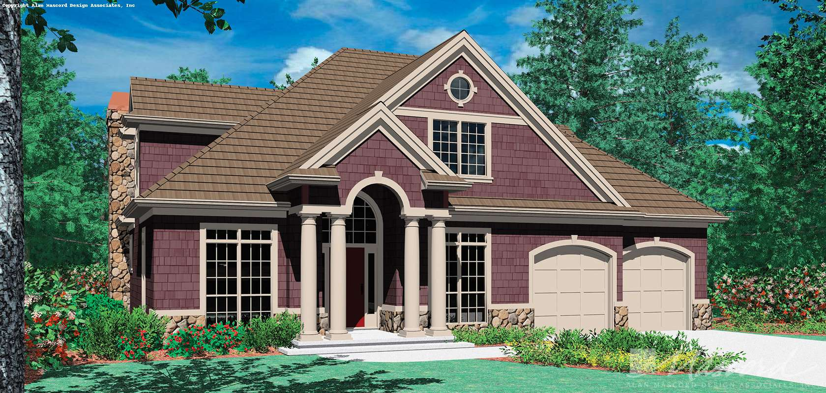 Mascord House Plan B22122A: The Saybrooke