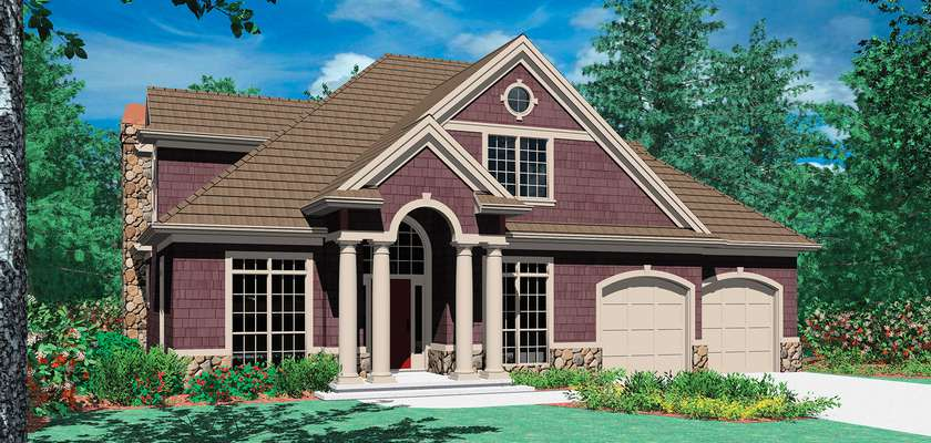 Mascord House Plan 22122A: The Saybrooke