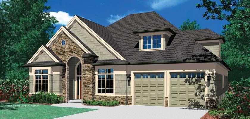 Mascord House Plan 22122B: The Silvercrest
