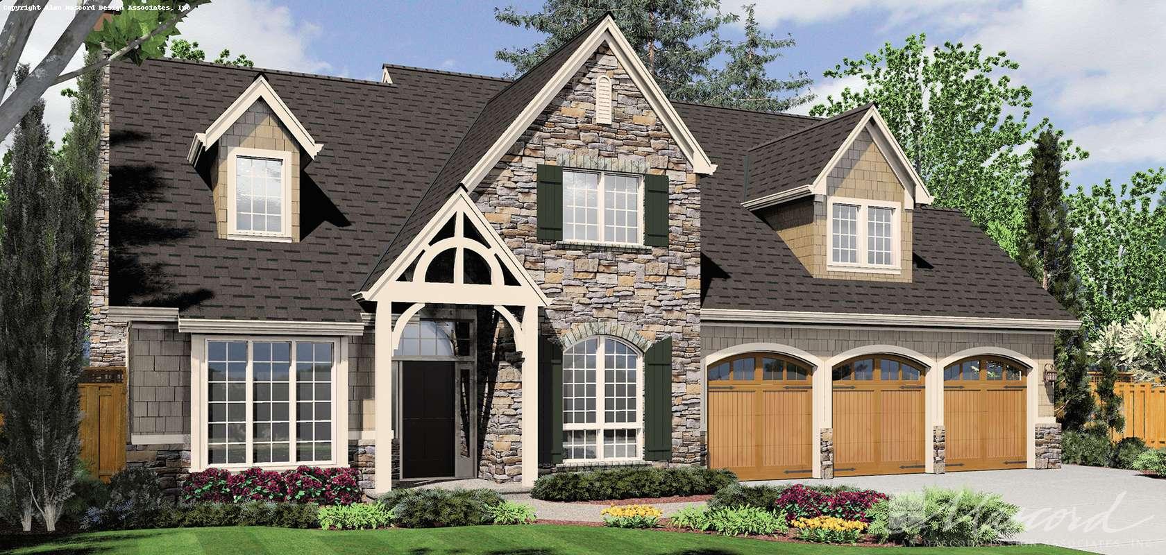 Mascord House Plan 22122D: The Brackenbury