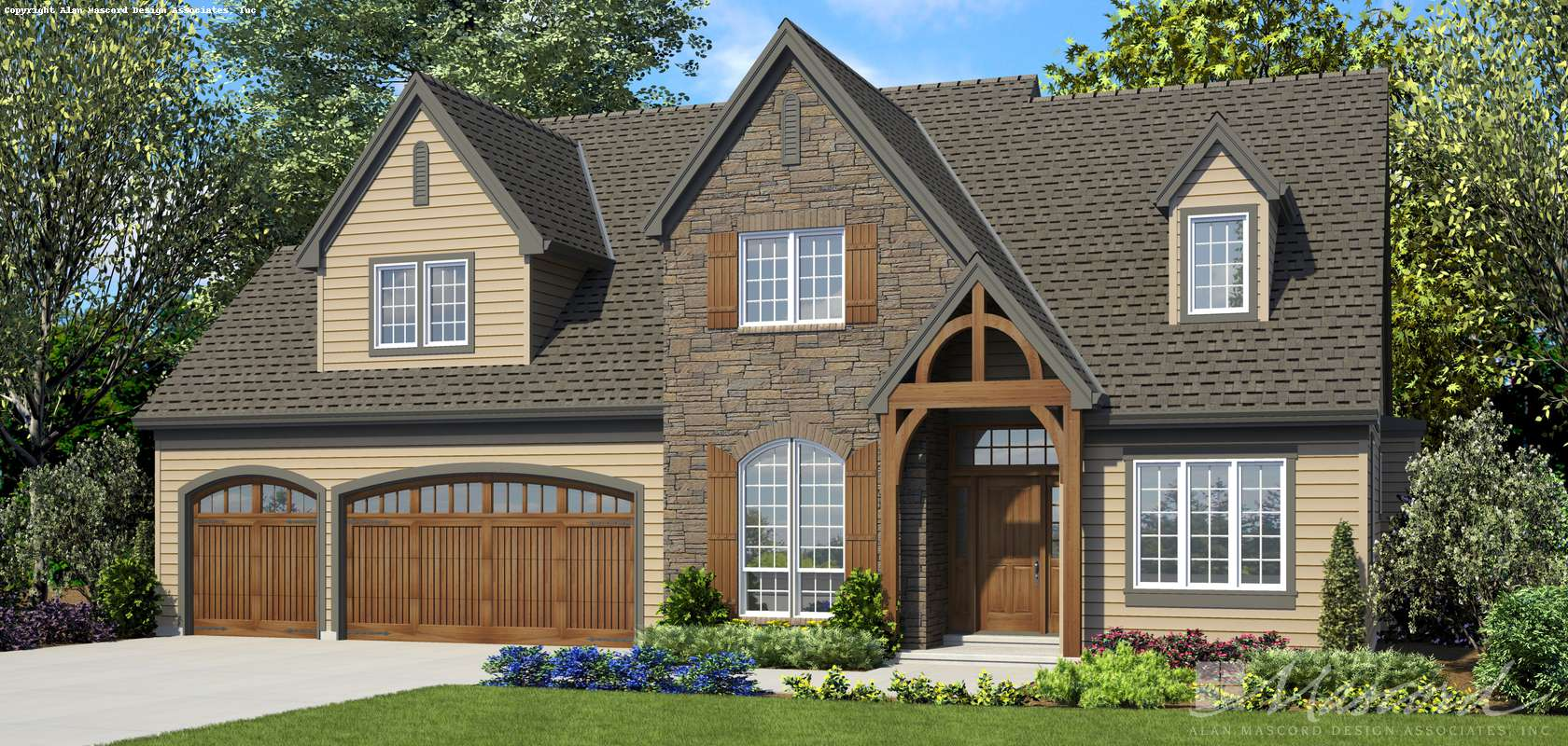 Mascord House Plan 22122DA: The Henning