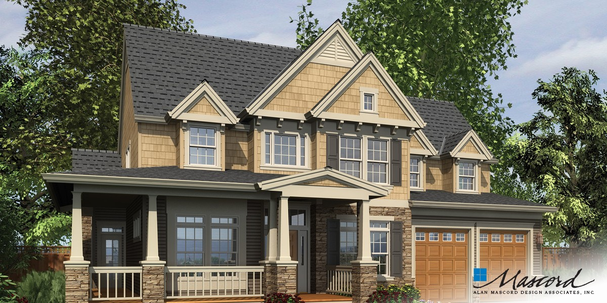 Mascord house plan 22122q the northbrook for Mascord house plans