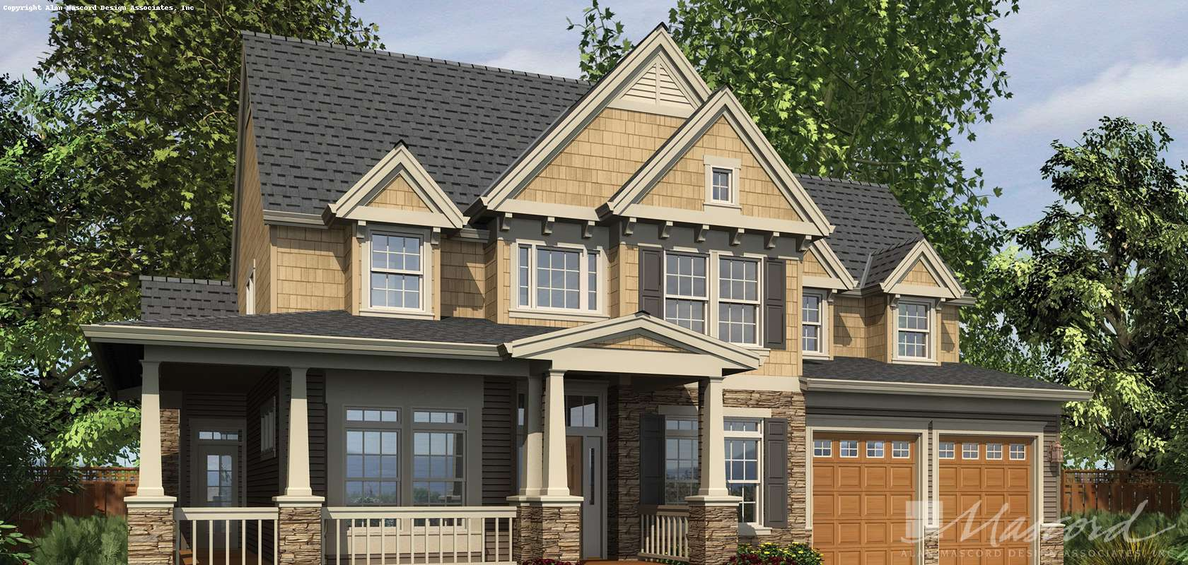 Mascord House Plan B22122Q: The Northbrook