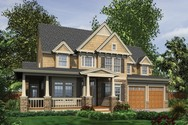 Front Rendering of Mascord House Plan 22122Q - The Northbrook