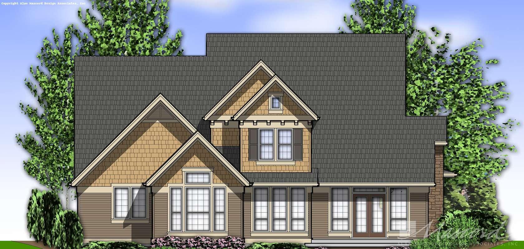 Mascord House Plan 22122Q: The Northbrook