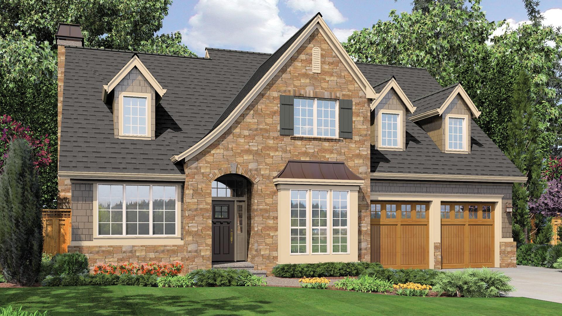 Mascord house plan 22122t the sophia - Casas estilo americano ...