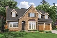 Front Rendering of Mascord House Plan 22122T - The Sophia