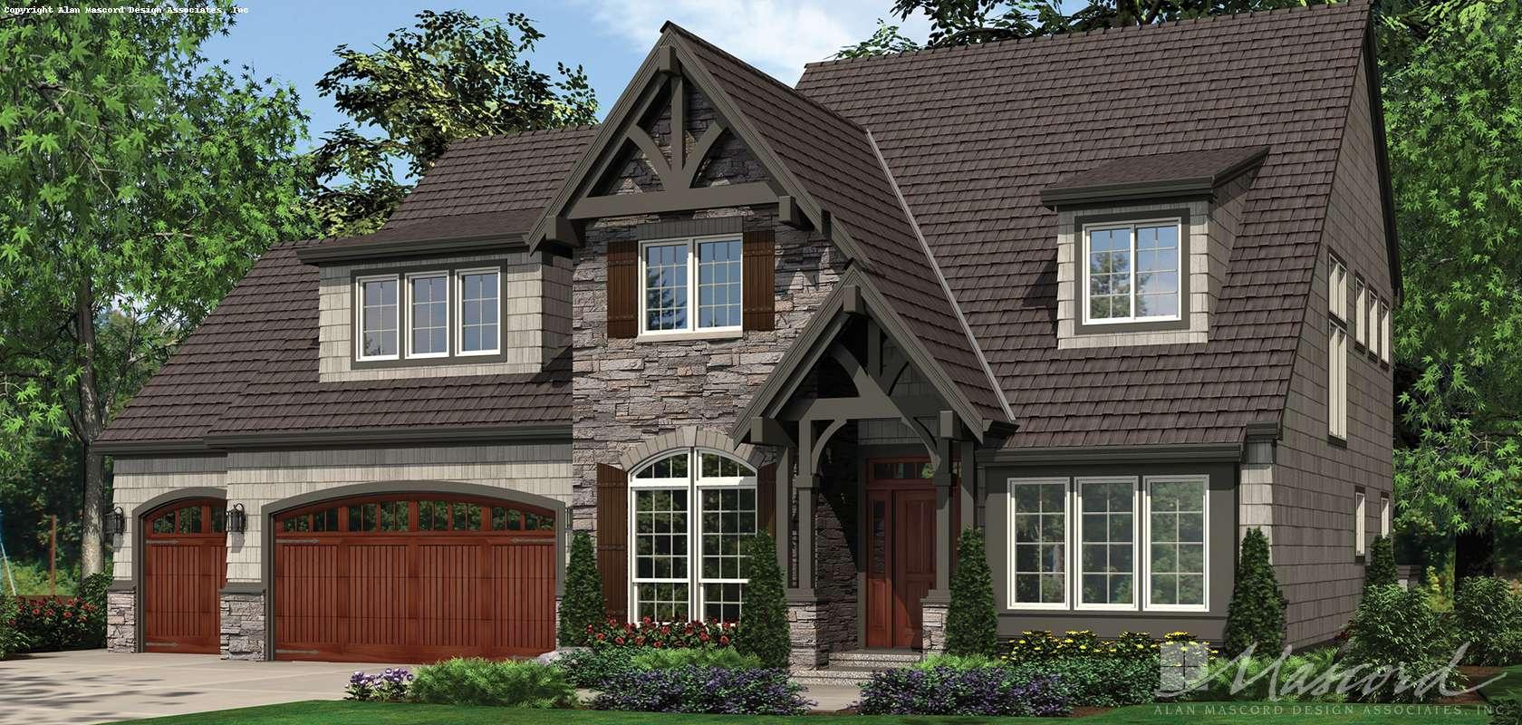 Mascord House Plan 22122U: The Dinsmore