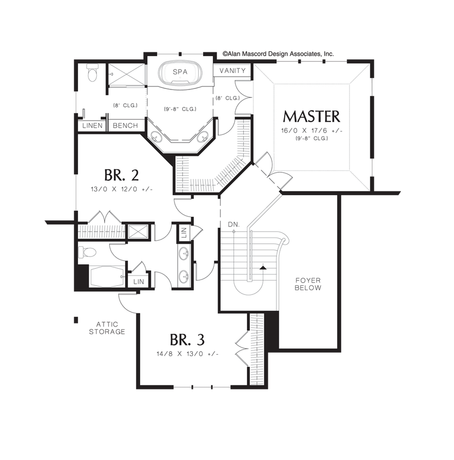 Cape Cod House Plan 22124c The Hayes 2902 Sqft 3