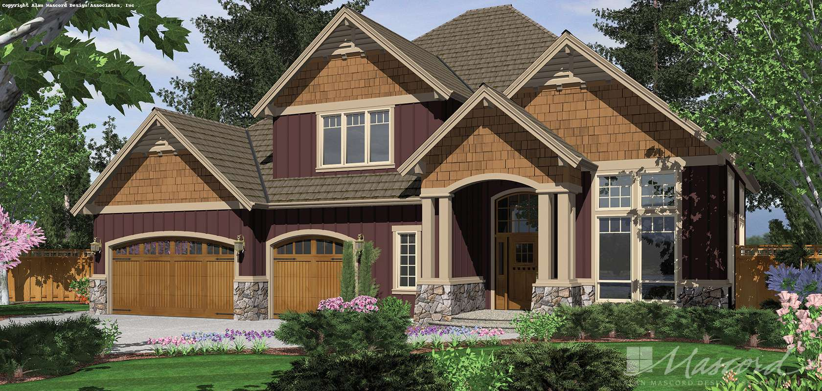 Mascord House Plan 22124C: The Hayes