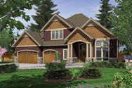 Front Rendering of Mascord House Plan 22124C - The Hayes