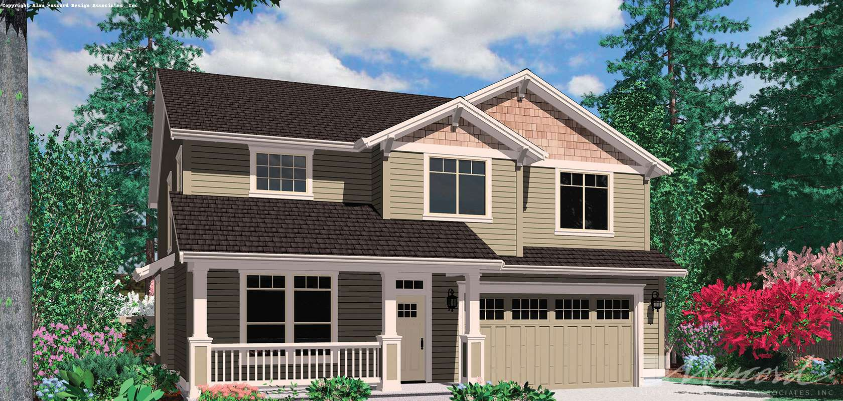 Mascord House Plan 22125: The Afton
