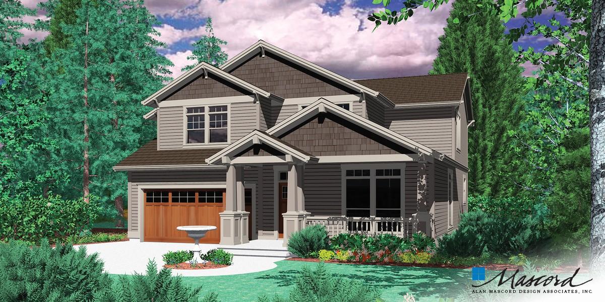Mascord house plan 22126 the creston for House plans mascord