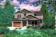 Front Rendering of Mascord House Plan 22126 - The Creston