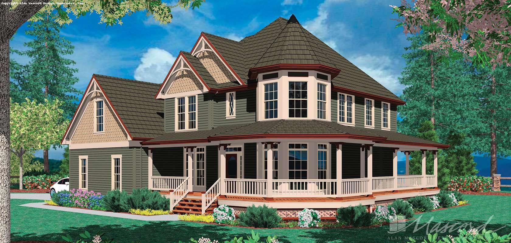 Mascord House Plan 22128: The Kensington